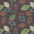 Υφάσματα Κουρτίνες με το μέτρο για Σαλόνι ,Υπνοδωμάτιο ,Καθιστικό iLiv_Chiswick Cedar πολύχρωμο floral σχέδιο με φύλλα βαμβακερό Φ140 χωρίς διαφάνεια