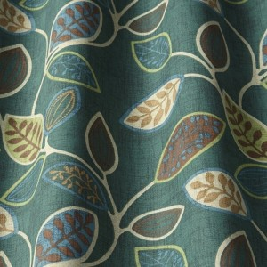 Ύφασμα με το μέτρο iLiv_Chiswick Forest πολύχρωμο floral σχέδιο με φύλλα βαμβακερό Φ140 χωρίς διαφάνεια