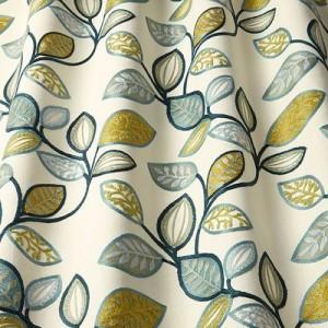Υφασματα για Κουρτινες - Υφάσματα Κουρτίνες με το μέτρο για Σαλόνι ,Υπνοδωμάτιο ,Καθιστικό iLiv_Farleigh Forest πολύχρωμο κεντημένο floral σχέδιο φύλλων σε φόντο εκρού βαμβακερό Φ140 χωρίς διαφάνεια