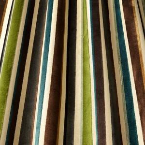 Υφάσματα Κουρτίνες με το μέτρο για Σαλόνι ,Υπνοδωμάτιο ,Καθιστικό iLiv_Festival Forest πολύχρωμο γεωμετρικό ριγέ βελούδο Φ140 χωρίς διαφάνεια