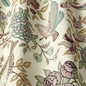 Υφασματα για Κουρτινες - Υφάσματα Κουρτίνες με το μέτρο για Σαλόνι ,Υπνοδωμάτιο ,Καθιστικό iLiv_Heritage Fern πολύχρωμο floral σχέδιο βαμβακερό Φ140 χωρίς διαφάνεια