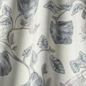 Ύφασμα με το μέτρο iLiv-Parchment Feather floral βοτανικό σχέδιο με αποχρώσεις του lilac, μωβ ,σταχτί ζωγραφισμένο στο χέρι σε μπεζ φόντο βαμβακερό Φ140 χωρίς διαφάνεια