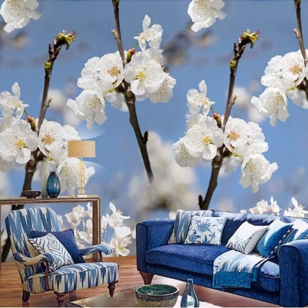 Ταπετσαρίες Τοίχου για όλο το σπίτι , για παιδικά δωμάτια, για κορίτσια , για αγόρια , Lk_Colorful Ink7283 Springblossom floral Digital Print Vlies – Non Woven