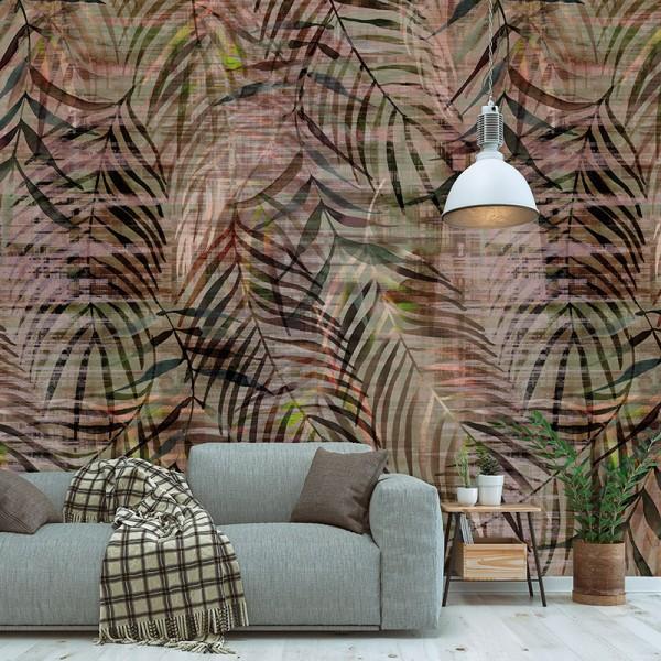 Ταπετσαρίες Τοίχου για όλο το σπίτι , για παιδικά δωμάτια, για κορίτσια , για αγόρια , Lk_Colorful Ink7284 Jungle Leaves votanical floral Digital Print Vlies – Non Woven