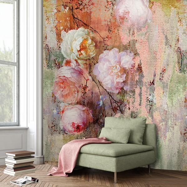 Ταπετσαρίες Τοίχου για όλο το σπίτι , για παιδικά δωμάτια, για κορίτσια , για αγόρια , Lk_Colorful Ink7290 floral Digital Print Non Woven