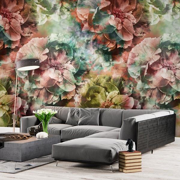 Ταπετσαρίες Τοίχου για όλο το σπίτι , για παιδικά δωμάτια, για κορίτσια , για αγόρια , Lk_Colorful Ink7293 Limitless Floral Digital Print Vlies – Non Woven