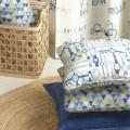 Κουρτίνες με το μέτρο για παιδικά δωμάτια, για κορίτσια , για αγόρια , για bebe δωμάτια Ride 01 ποδήλατα σε μπλε αποχρώσεις Digital Print βαμβακερό Φ280 χωρίς διαφάνεια