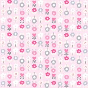 Κουρτίνες με το μέτρο για παιδικά δωμάτια, για κορίτσια , για αγόρια , για bebe δωμάτια Garden 02 λουλούδια σε ροζ-γκρι αποχρώσεις Digital Print βαμβακερό Φ280 χωρίς διαφάνεια