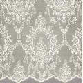 Υφασματα για Κουρτινες - Κουρτίνες με το μέτρο για όλο το σπίτι ,Antoinette champagne floral μονόχρωμη Φ300 ,με διαφάνεια