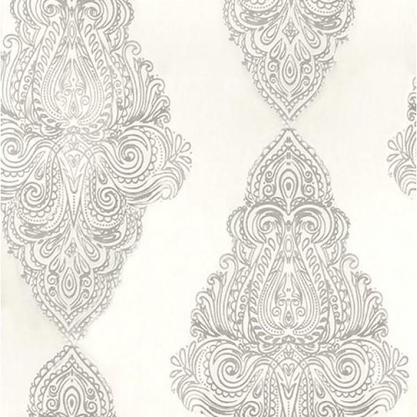 Υφασματα για Κουρτινες - Κουρτίνες με το μέτρο για όλο το σπίτι ,Orient ivory με σχέδιο μονόχρωμη Φ300 ,ημιδιαφανή