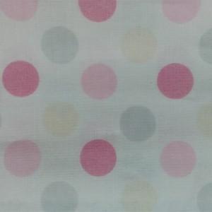 Κουρτίνες με το μέτρο για παιδικά δωμάτια, για κορίτσια , για αγόρια , για bebe δωμάτια PANDA /02 ροζ πουά Φ2,80 βαμβακερό