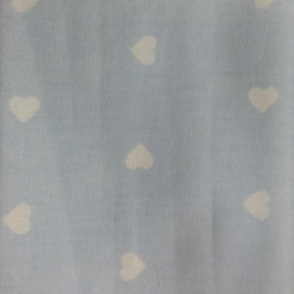 Κουρτίνες με το μέτρο για παιδικά δωμάτια, για κορίτσια , για αγόρια , για bebe δωμάτια PANDA /09 σιέλ καρδιές  Φ2,80 βαμβακερό