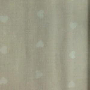 Κουρτίνες με το μέτρο για παιδικά δωμάτια, για κορίτσια , για αγόρια , για bebe δωμάτια PANDA /21 μπεζ καρδιές  Φ2,80 βαμβακερό