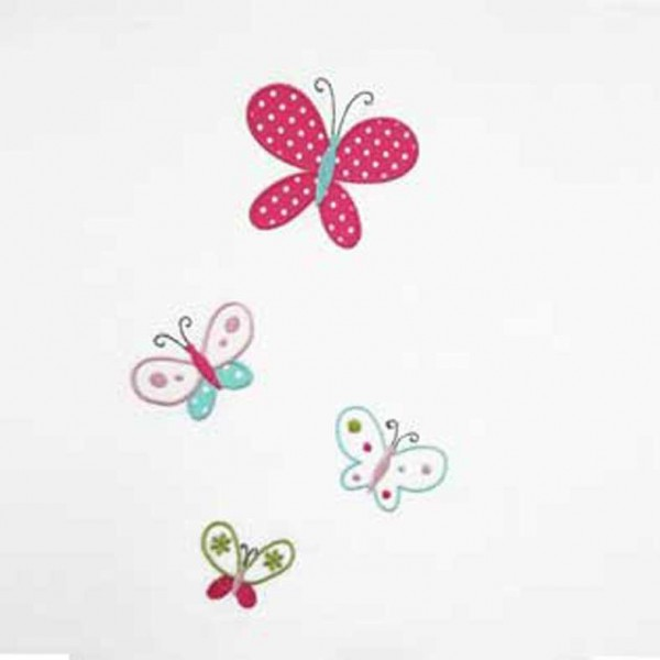 Κουρτίνες με το μέτρο για παιδικά δωμάτια, για κορίτσια , για αγόρια , για bebe δωμάτια Nicoleta col.21 Φ3.00 πολύχρωμες πεταλούδες βαμβακερή ,ημι-διάφανη
