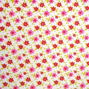 Κουρτίνες με το μέτρο για παιδικά δωμάτια, για κορίτσια , για αγόρια , για bebe δωμάτια  Alegria col.1 Φ2,80 ροζ κόκκινα λουλούδια floral βαμβακερό , χωρίς διαφάνεια