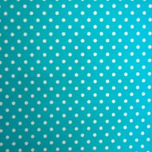 Κουρτίνες με το μέτρο για παιδικά δωμάτια, για κορίτσια , για αγόρια , για bebe δωμάτια Topos col.3 Φ2,80 aqua πουά βαμβακερό χωρίς διαφάνεια