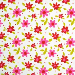 Κουρτίνες με το μέτρο για παιδικά δωμάτια, για κορίτσια , για αγόρια , για bebe δωμάτια Margarita col.1 Φ2,80 ροζ κόκκινα λουλούδια floral βαμβακερό ,χωρίς διαφάνεια