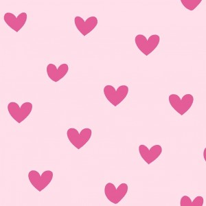 Κουρτίνες με το μέτρο για παιδικά δωμάτια, για κορίτσια , για αγόρια , για bebe δωμάτια Love col.1 Φ2,80 ροζ φόντο με φούξια καρδούλες βαμβακερό, χωρίς διαφάνεια