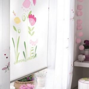 Ρολο-Κουρτίνες , Πάνελ για παιδικά δωμάτια, για κορίτσια , για αγόρια , για bebe δωμάτια Mirta col.1 με νεράιδα και λουλούδια σε λιλά φούξια αποχρώσεις